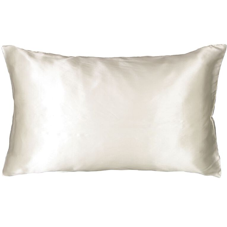 Living & Co Silk Pillowcase Sand, , hi-res
