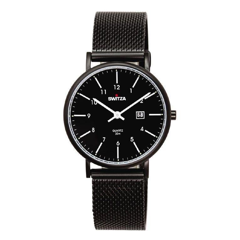Switza Ladies Stainless Steel PVD Black Watch, , hi-res