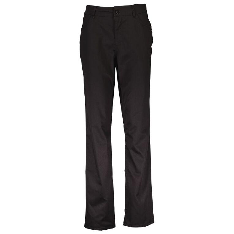 Schooltex College Girls' Trousers, Black, hi-res