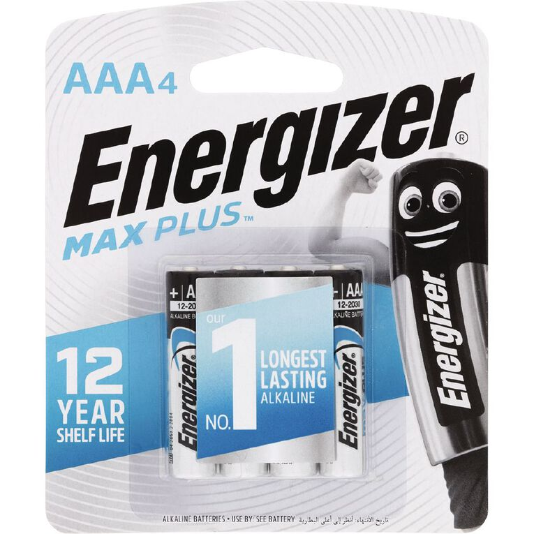 Energizer Max Plus Battery AAA 4 Pack, , hi-res