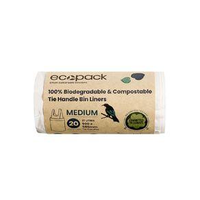 Ecopack Compostable Bin liners 27L 20pk