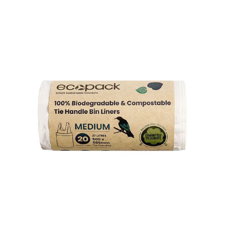 Ecopack Compostable Bin liners 27L 20pk, , hi-res
