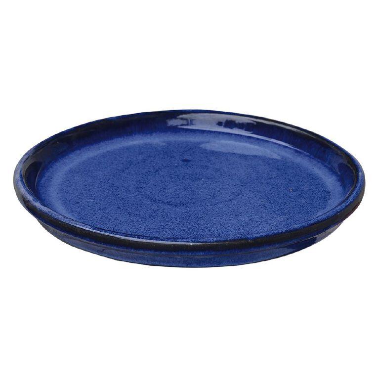 Kiwi Garden Round Saucer Blue 20cm, , hi-res