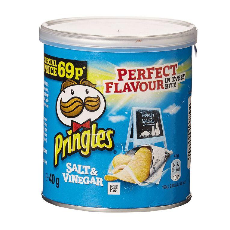 Pringles Salt And Vinegar 40g, , hi-res