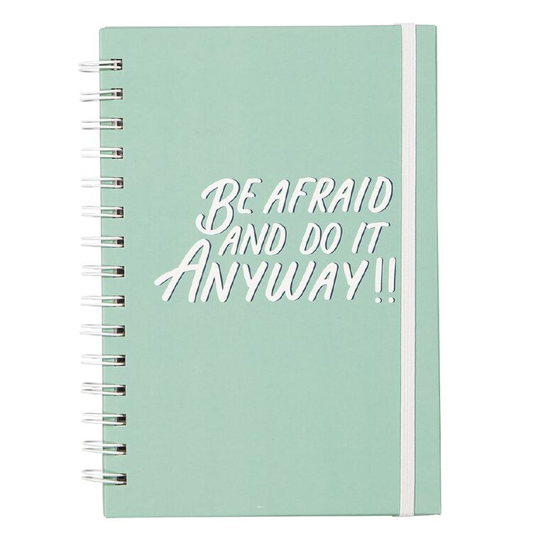 Uniti Empowerment Spiral Notebook Hardcover Teal A5, , hi-res