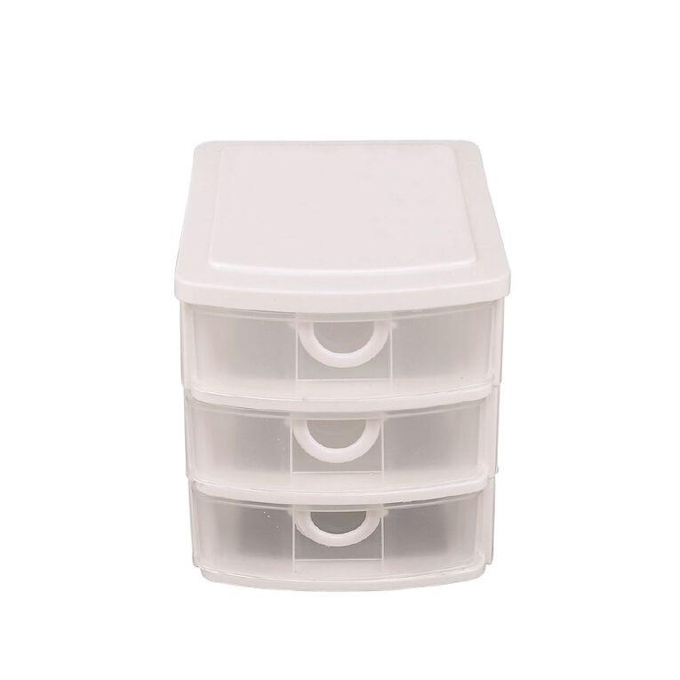 Living & Co Mini Drawers White 3 Tier, , hi-res