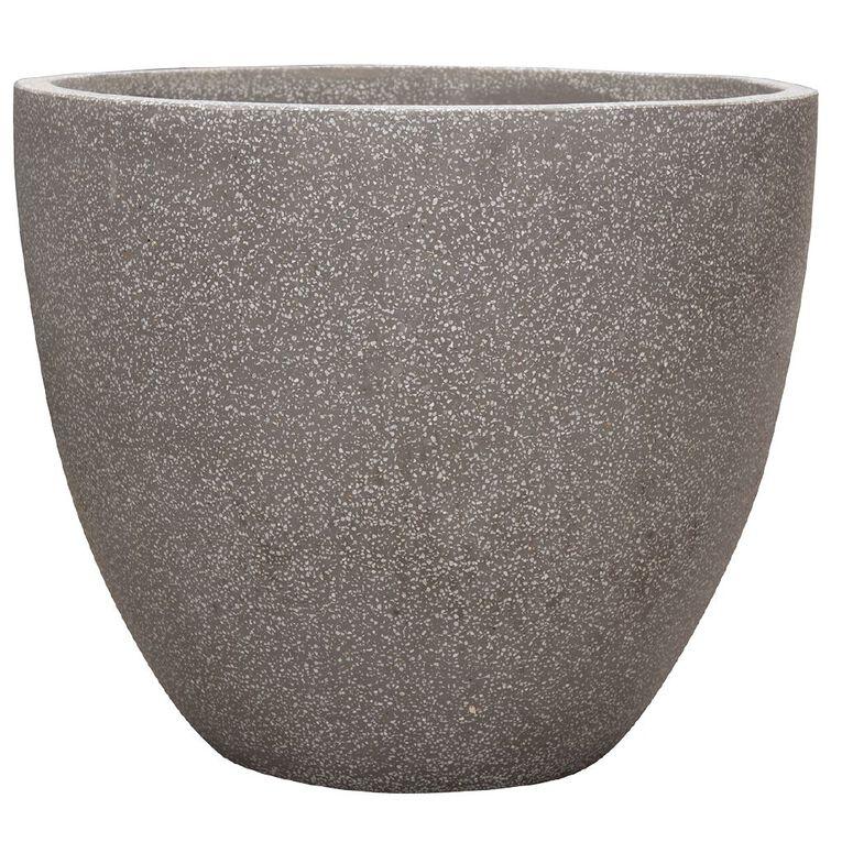 Kiwi Garden Lightweight Cement Egg Planter Grey 25cm, , hi-res