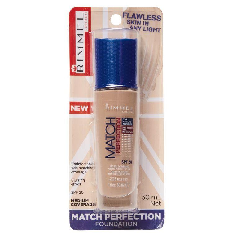 Rimmel Match Perfection Foundation True Beige, , hi-res