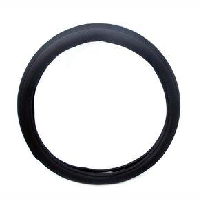 Mako Steering Wheel Cover Polyester Black