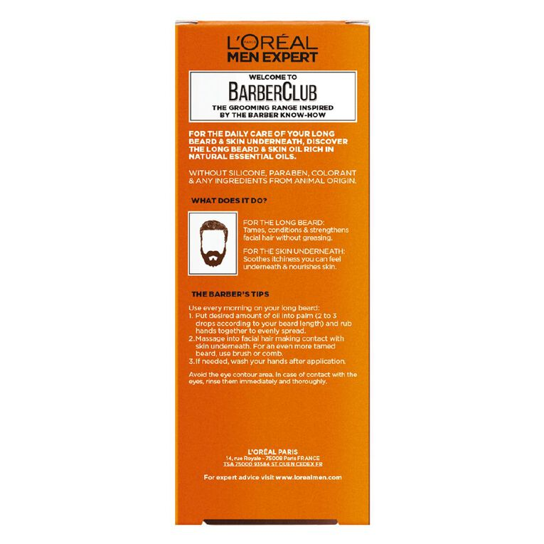 L'Oreal Paris Men Expert Barber Club Beard Oil 30ml, , hi-res