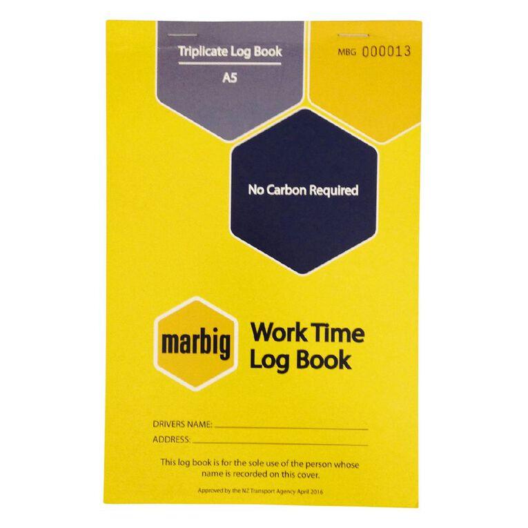 Marbig Worktime Triplicate 50 Leaf Yellow A5, , hi-res