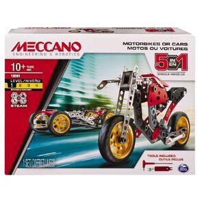 Meccano 5 Model Set Street Fighter 132 Piece