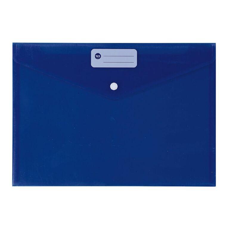 WS Document Envelope Single Dome Blue, , hi-res