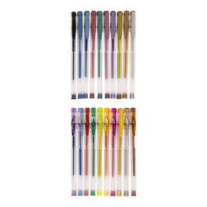 Deskwise Gel Pens Glitter 20 Pack Mixed Assortment