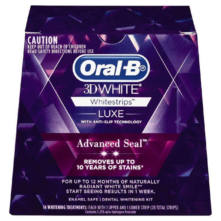 Oral-B White Luxe Advance Seal Whitening Strips 14pk, , hi-res