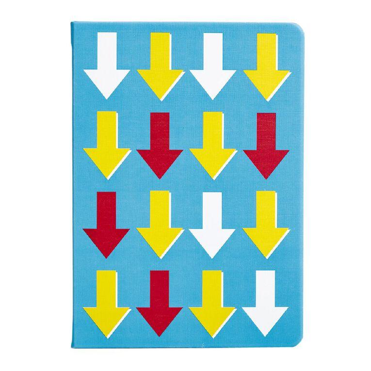 Uniti Fun & Funky Notebook Hardcover PU Arrow Blue Light A5, , hi-res