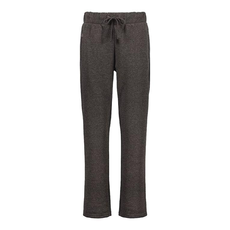 Pickaberry Women's Zip Detail Smart Pant, Charcoal, hi-res