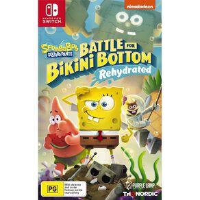 Nintendo Switch Spongebob Battle For Bikini Bottom Rehydrated