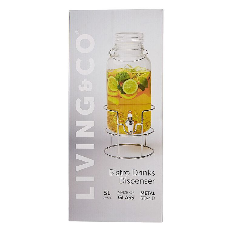 Living & Co Bistro Drinks Dispenser With Stand 5L, , hi-res