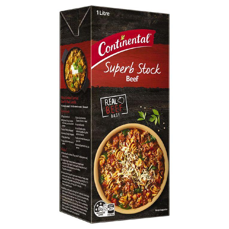 Continental Beef Stock Liquid 1L, , hi-res
