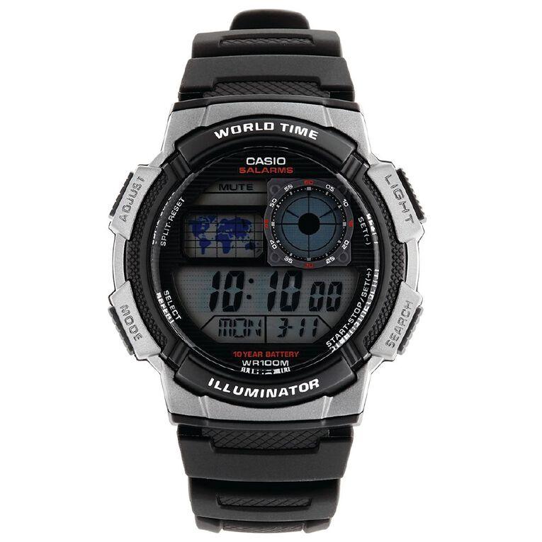 Casio Digital World Time Watch AE-1000W-1BV, , hi-res