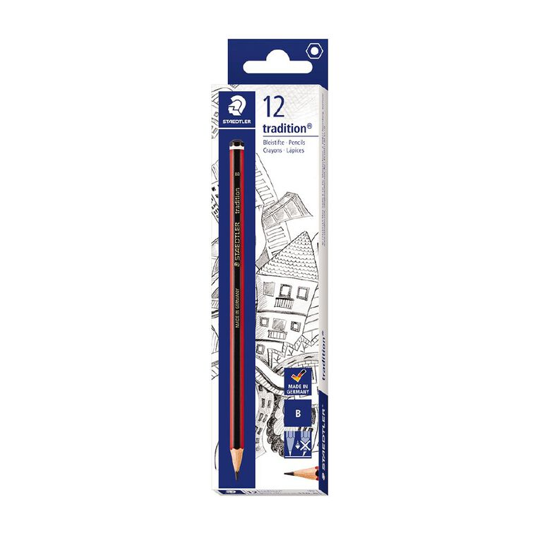 Staedtler Tradition 110 Graphite Pencil B - Box 12, , hi-res
