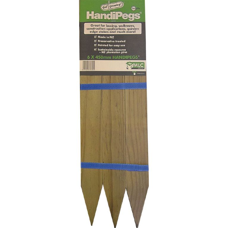 MLC Wooden Handi Pegs 6 Pack, , hi-res