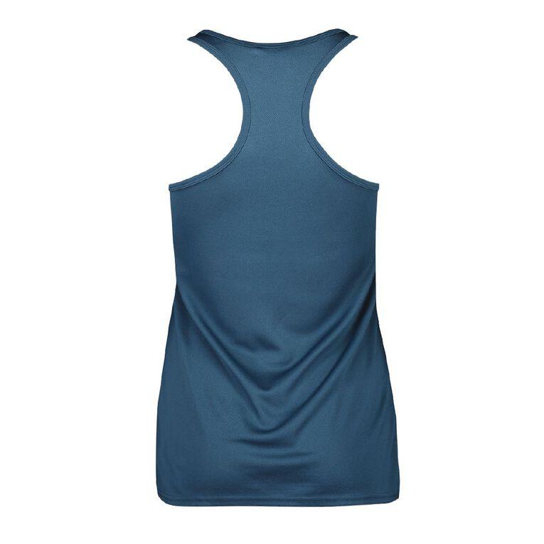 Active Intent Women's Cooldry Racer Back Singlet, Blue Dark, hi-res