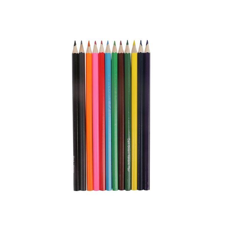 Kookie Te Reo Coloured Pencils 12 Pack, , hi-res