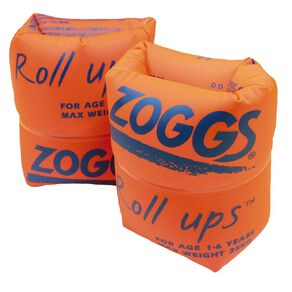 Zoggs Swimming Roll Ups 1-6 Years Red