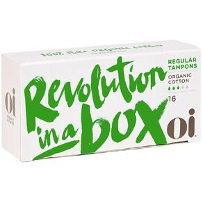 Oi Organic Cotton Tampons Regular 16 Pack