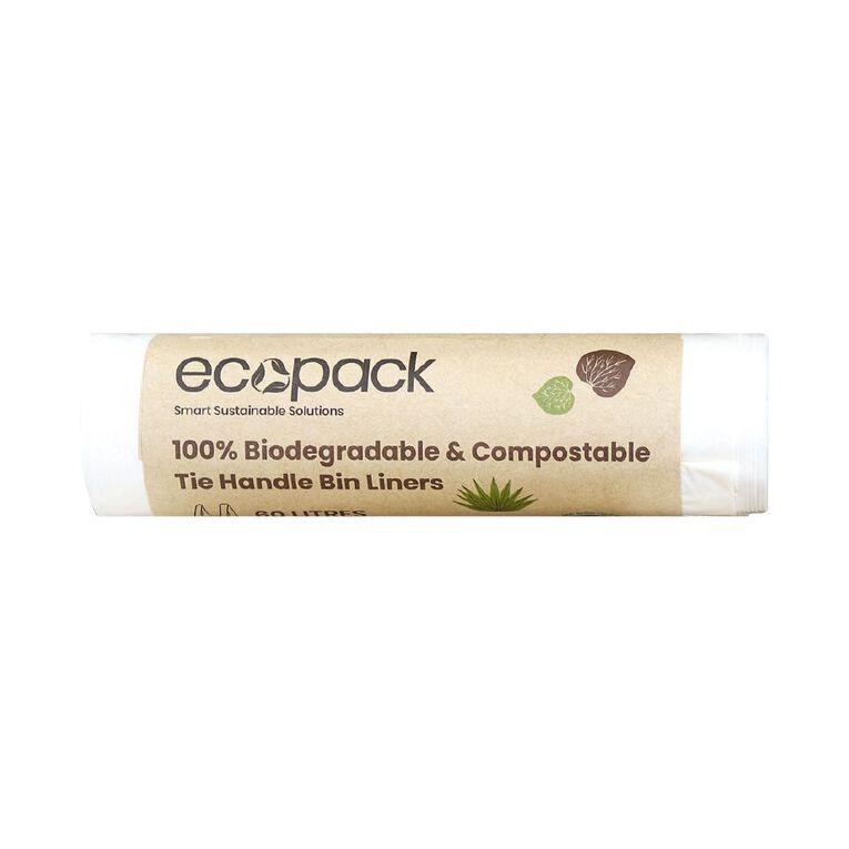 Ecopack Compostable Bin liners 60L 5pk, , hi-res