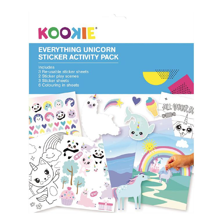 Kookie Sticker Activity Pad Everything Unicorn, , hi-res image number null