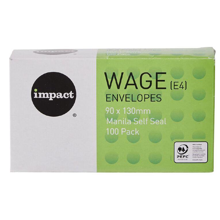 WS Envelope E4 Wage Self Seal 100 Pack, , hi-res