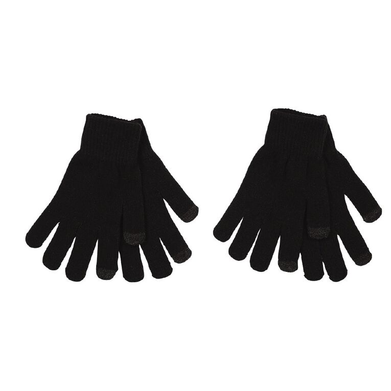 H&H Women's Touch Screen Gloves, Black, hi-res