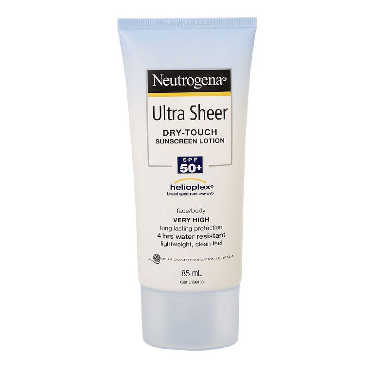 Neutrogena Ultra Sheer Body Lotion SPF50+ 85mL, , hi-res