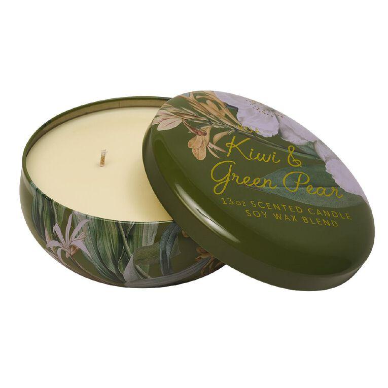 Living & Co Kiwiana Kiwi & Green Pear Tin Candle Green 13oz, , hi-res