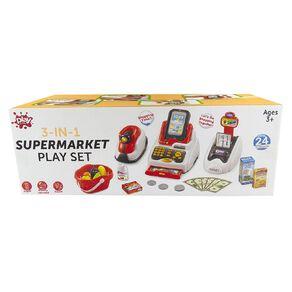 3-in-1 Supermarket Play Set