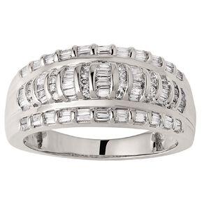 1/2 Carat Diamonds 9ct Gold Baguette Channel Set Ring