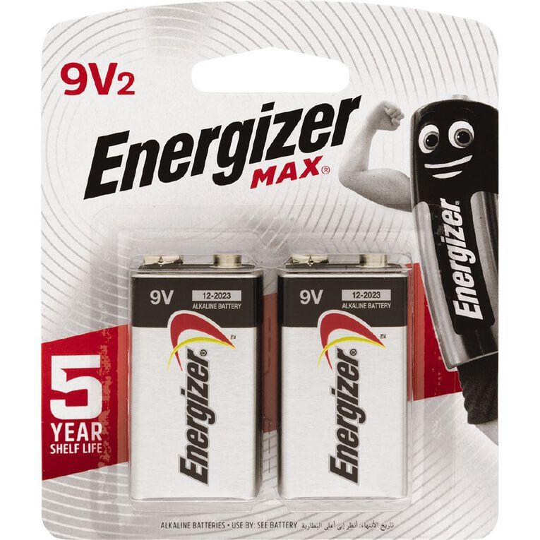 Energizer Max 9V 2 Pack, , hi-res