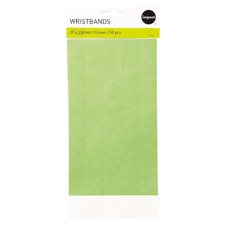 Impact Wristbands Green 50 Pieces, , hi-res
