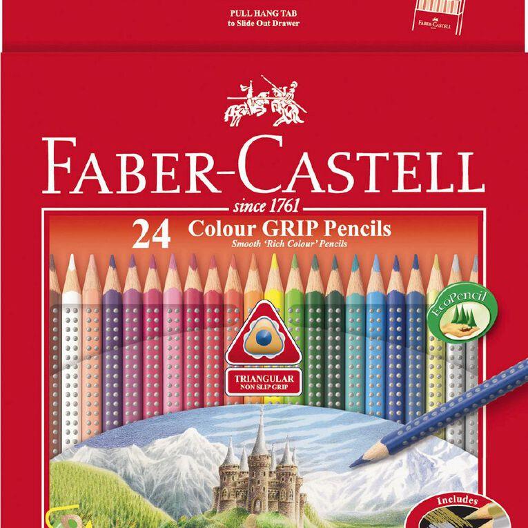 Faber-Castell Coloured Grip Pencils 24 Pack, , hi-res