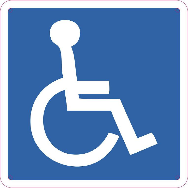 WS Wheelchair Sign Small 300mm x 300mm, , hi-res