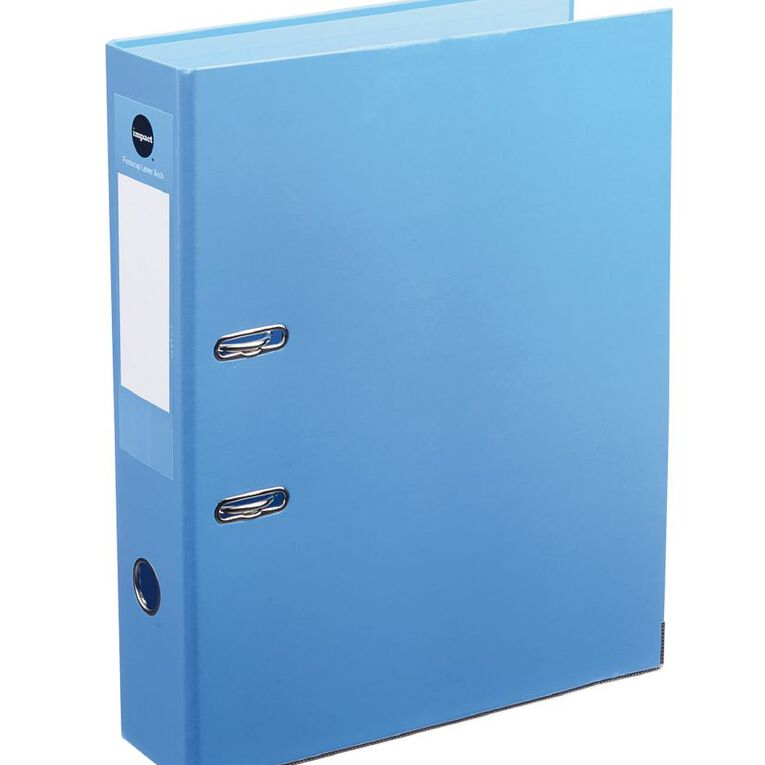 Impact Foolscap Lever-Arch Blue, , hi-res