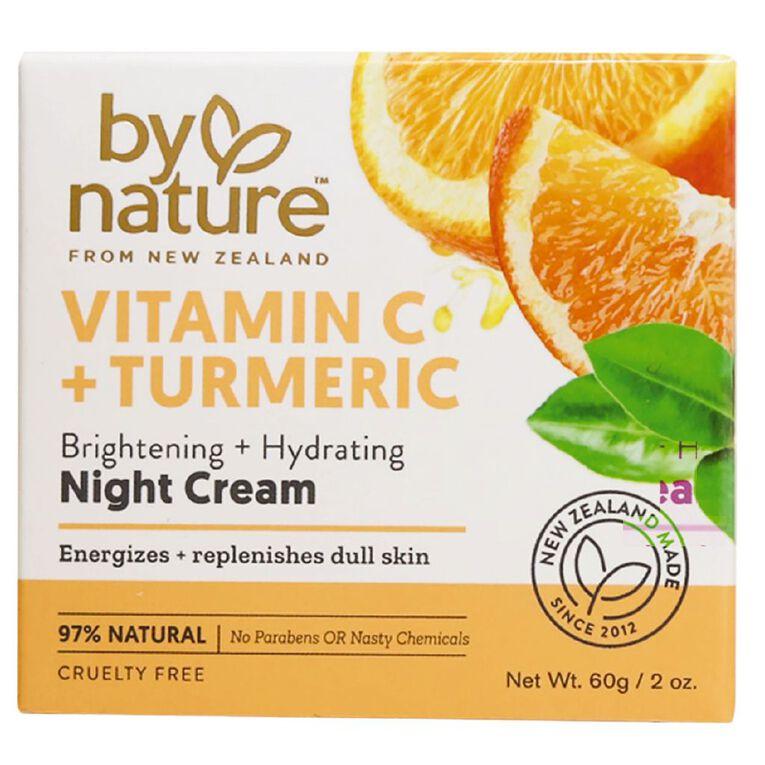By Nature Vitamin C and Tumeric Night Cream 60g, , hi-res