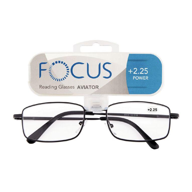 Focus Reading Glasses Aviator Power 2.25, , hi-res