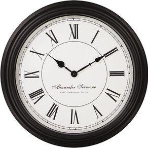 Living & Co Classic Station Clock Black 40cm x 40cm