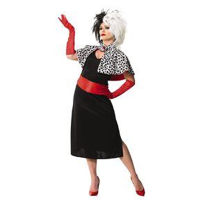 101 Dalmatians Disney Cruella De Vil Deluxe Costume Medium
