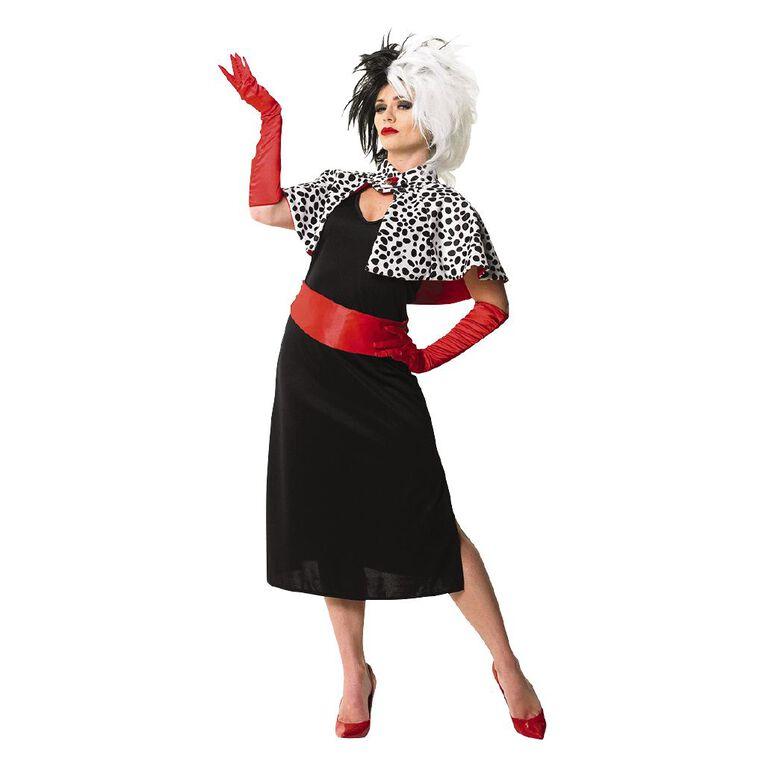 101 Dalmatians Disney Cruella De Vil Deluxe Costume Medium, , hi-res