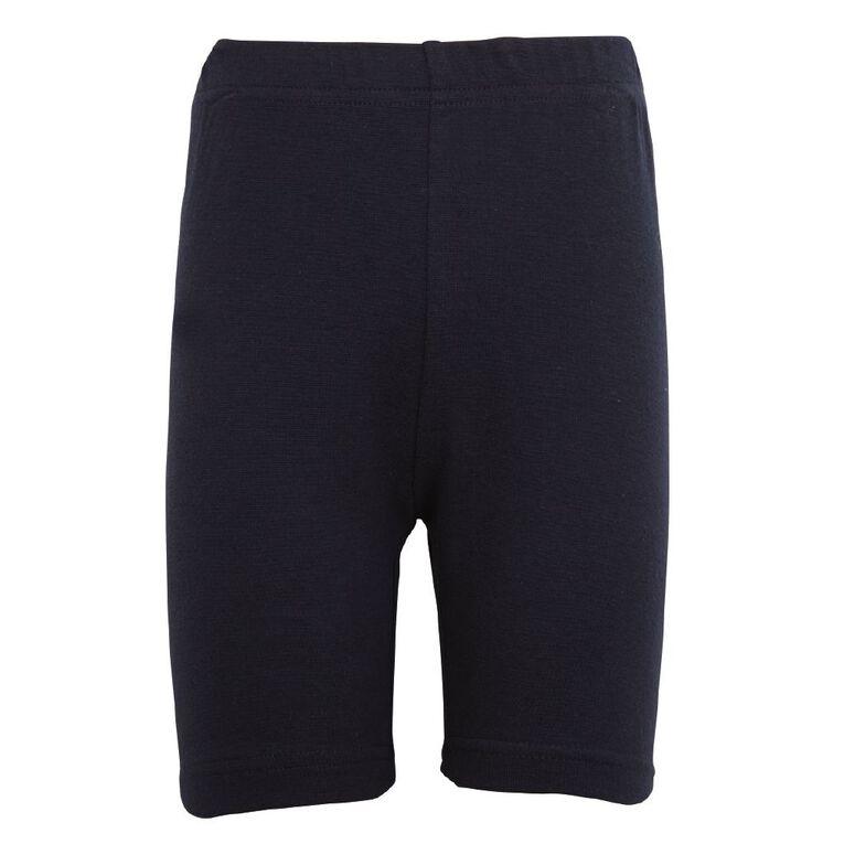 Schooltex Girls' Bike Shorts, Navy, hi-res